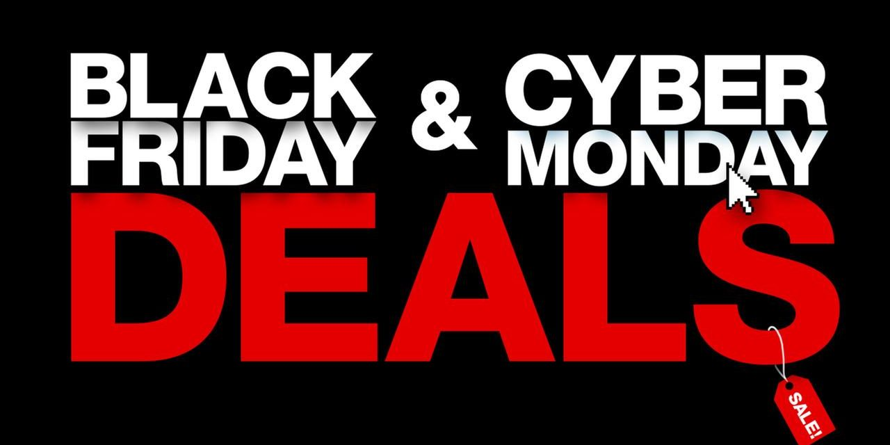 Black Friday Cyber Monday Graphic Message for Digital Signage Communications