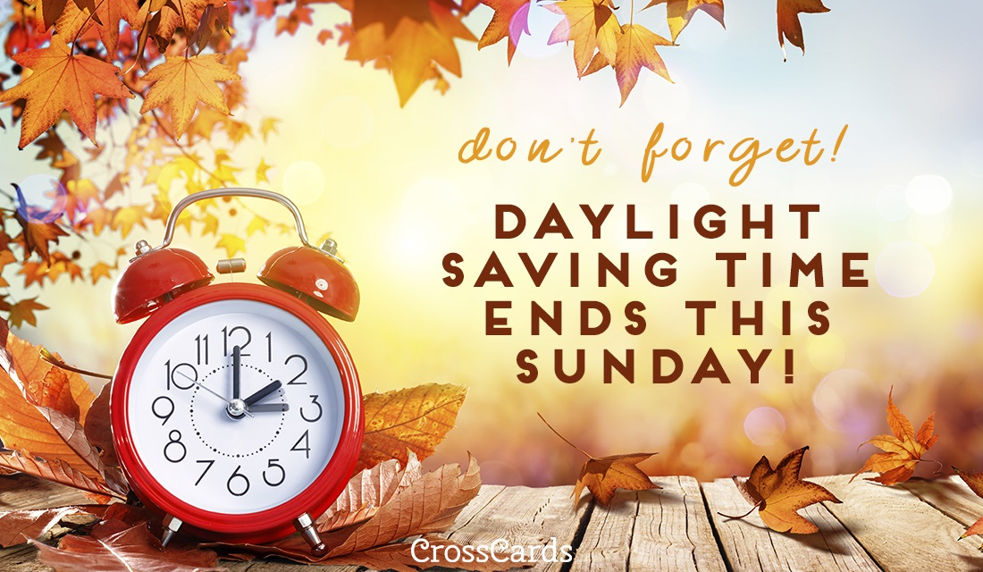 Daylight Savings Graphic Message for Digital Signage Communications
