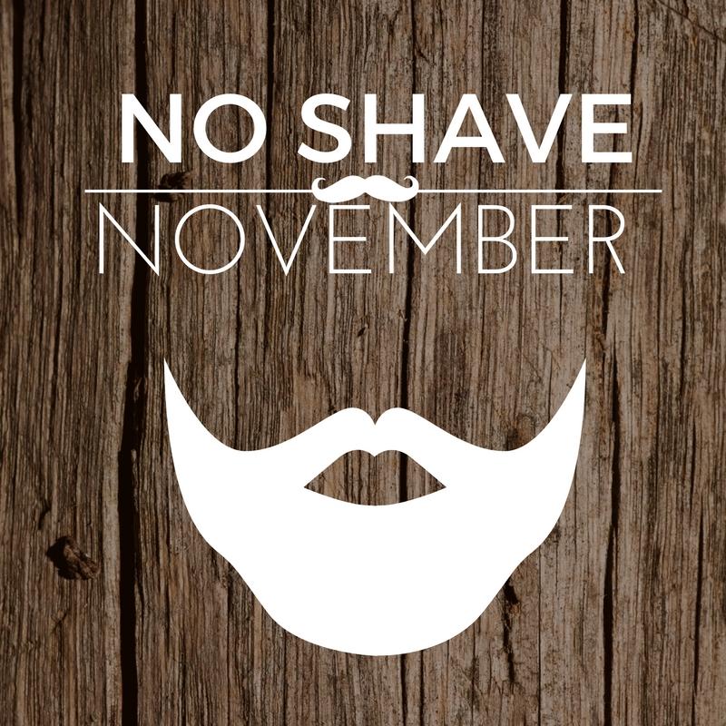 NO Shave November Graphic Message for Digital Signage Communications