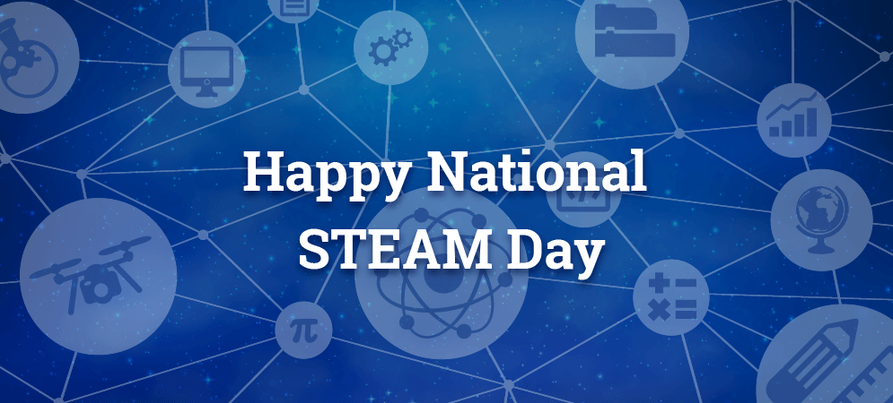 Stem Day Graphic Message for Digital Signage Communications
