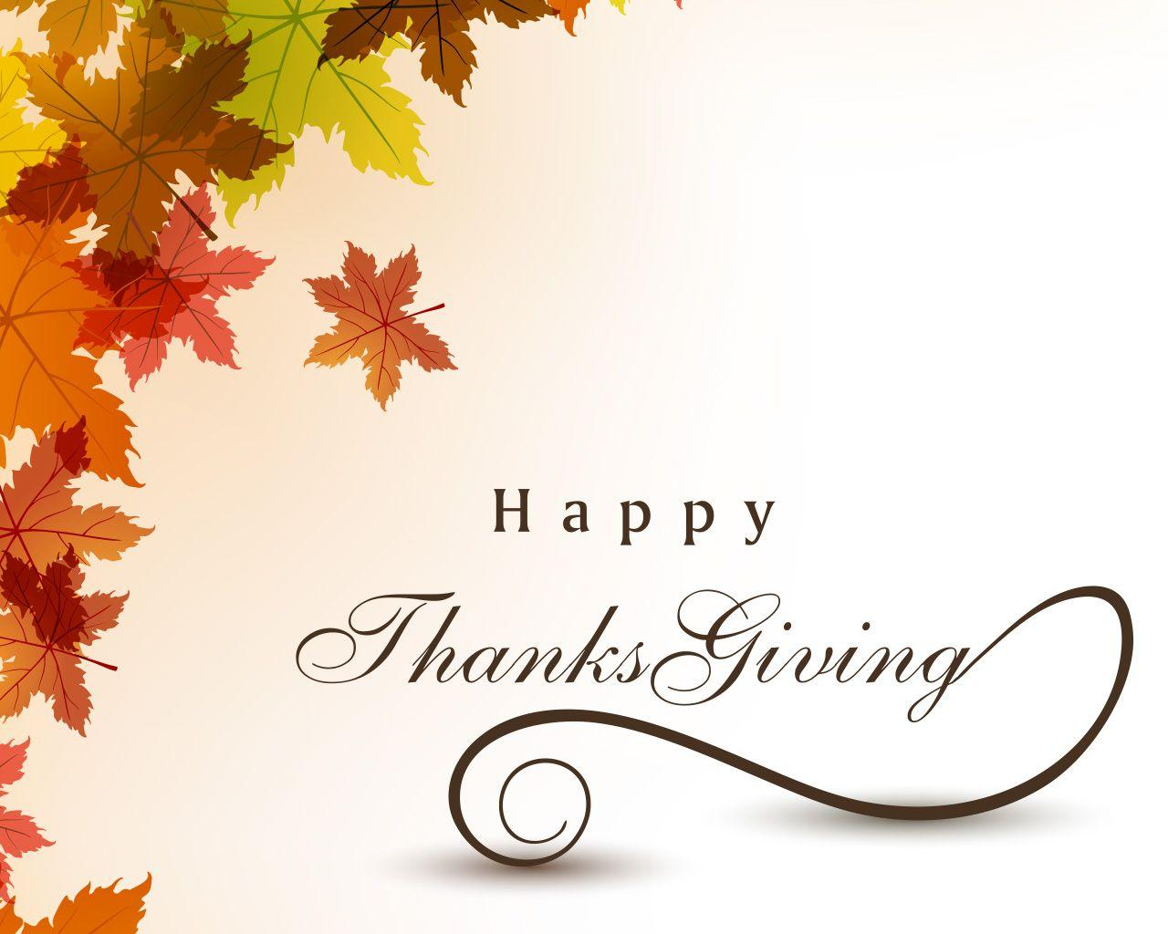 Thanksgiving Day Graphic Message for Digital Signage Communications