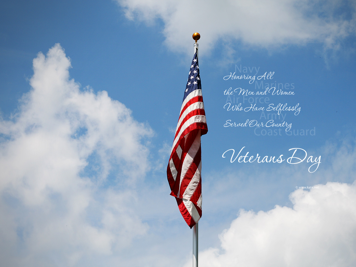 Veterans Day Graphic Message for Digital Signage Communications