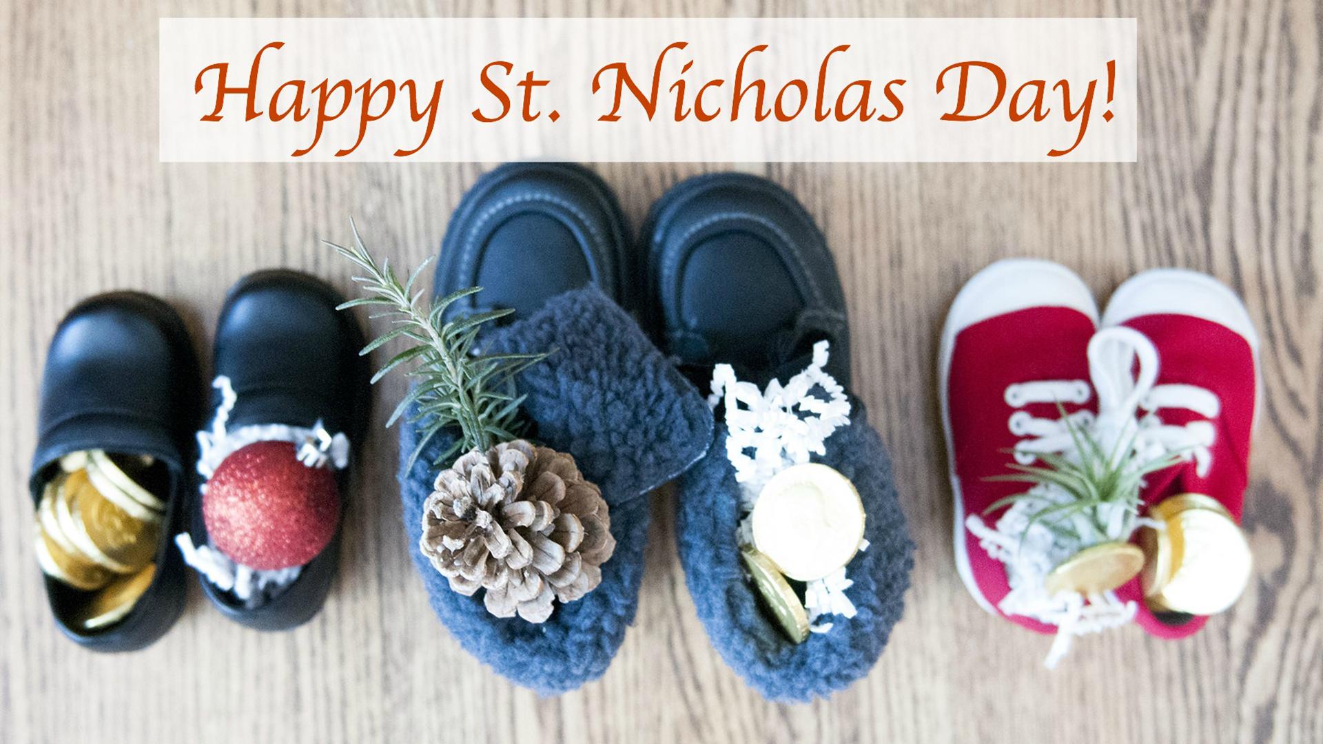 Saint Nicholas Day Background Graphic for Digital Signage