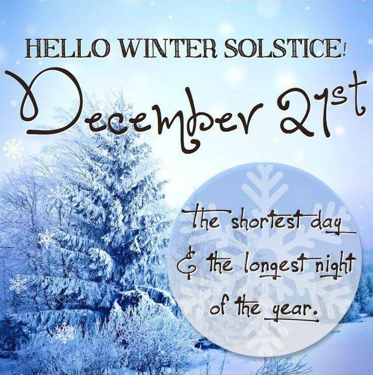 DEC 21 First Day of Winter Solstice Digital Signage Graphic