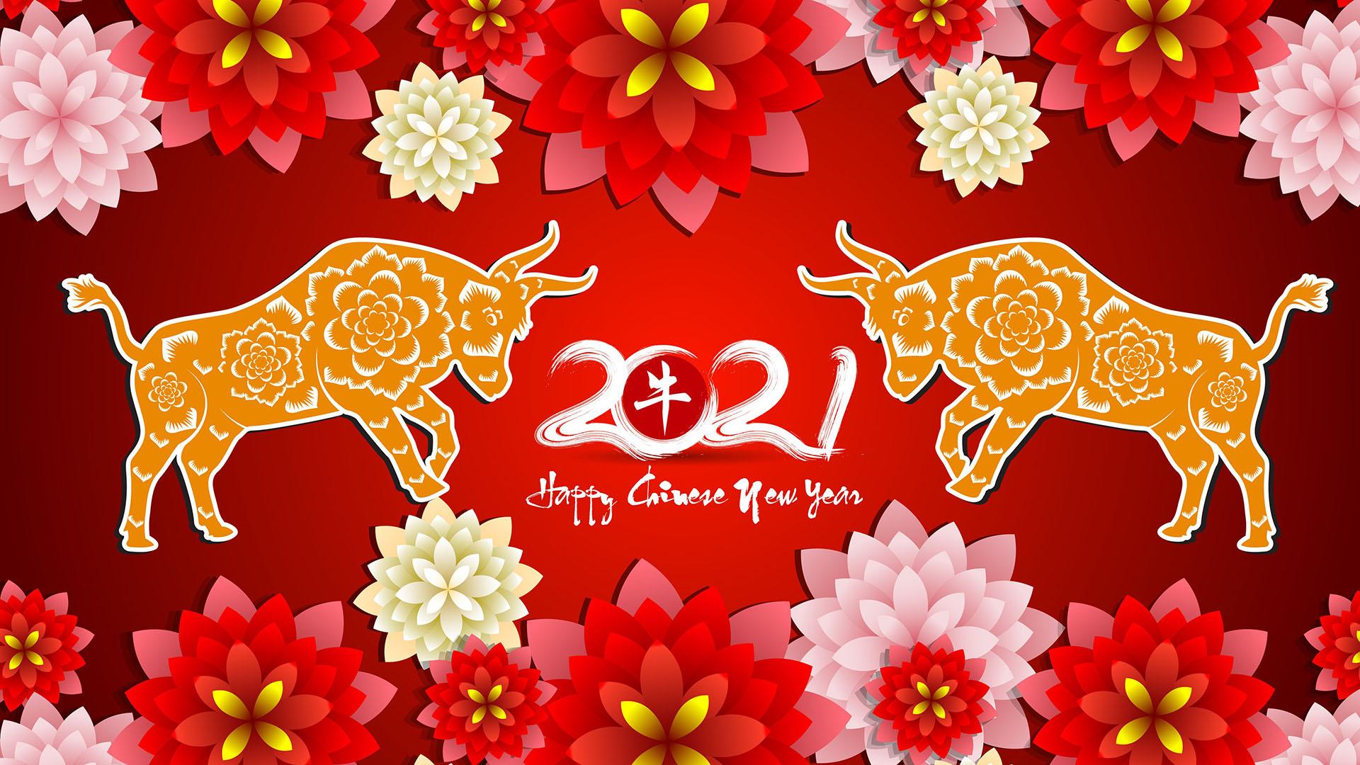 February 12 Chinese New Year Digital Signage Graphic