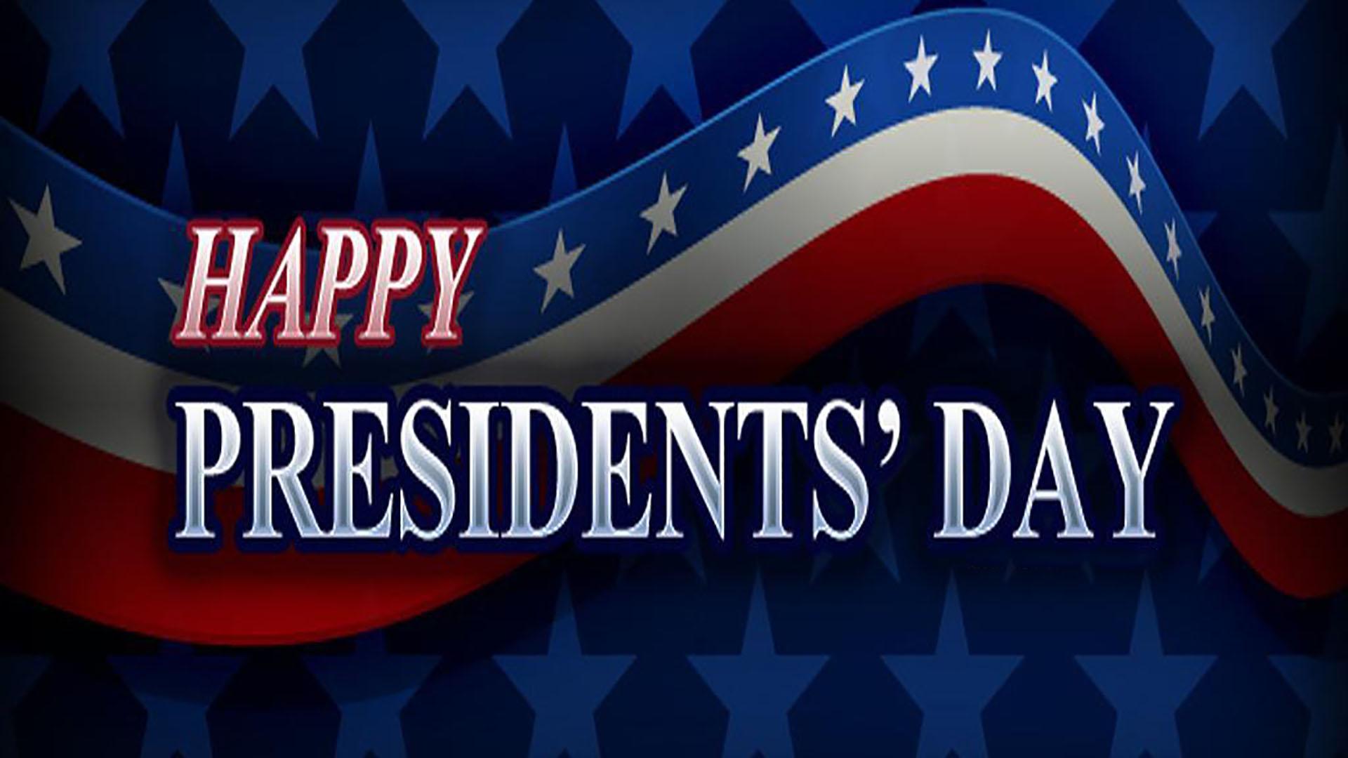 February 15 Presidents Day Digital Signage Graphic