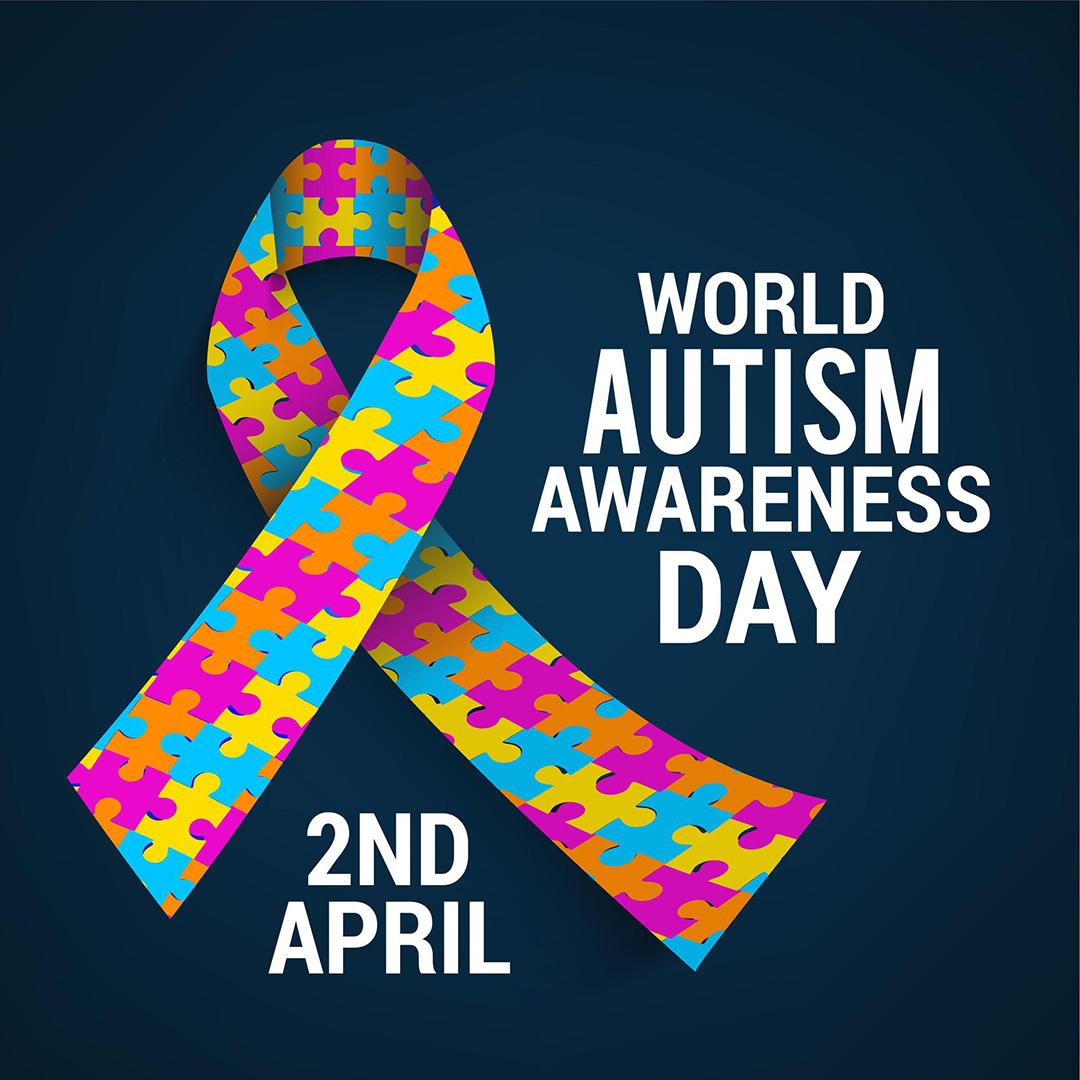 April 2 World Autism Awareness Day Digital Signage Graphic