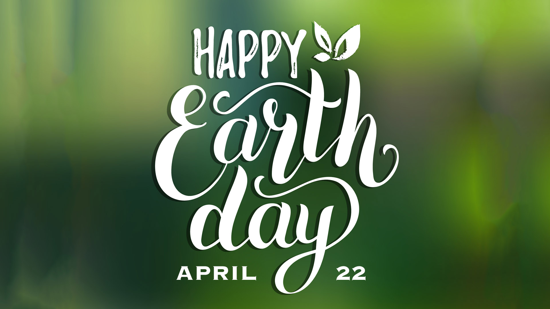 April 22 Earth Day Digital Signage Graphic