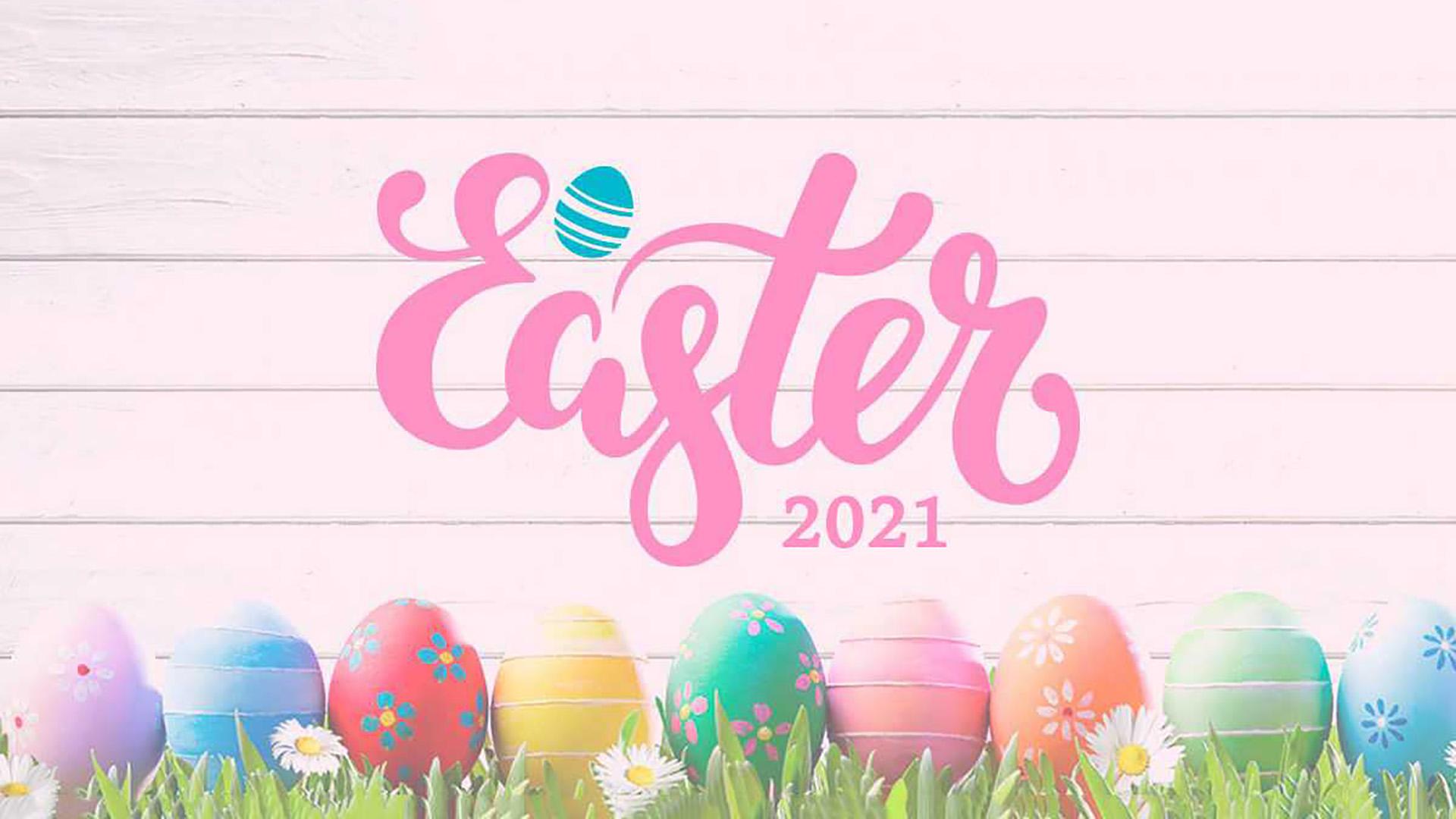 April 4 Easter Digital Signage Graphic