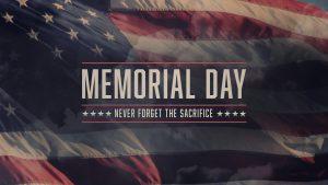 May 31 Memorial Day Digital Signage Graphic