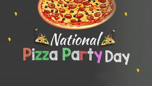 May 21 Pizza Party Day Digital Signage Graphic