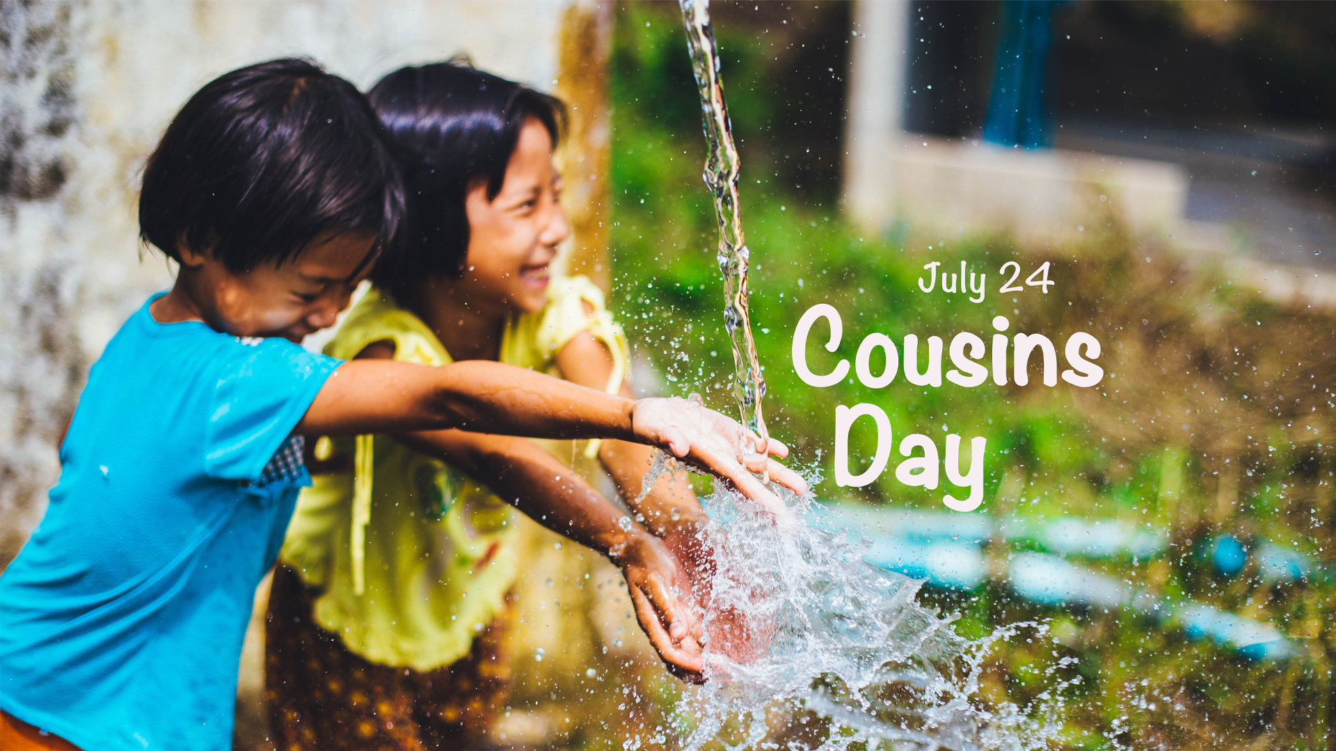 Cousins Day July 24 Digital Signage Graphic