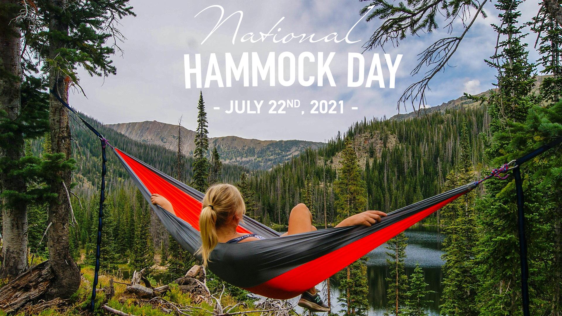 Nation Hammock Day July 22 Digital Signage Graphic