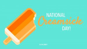 Creamsicle Day August 14 Digital Signage Graphic
