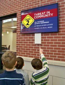 school cap alert system digital signage