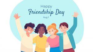 Nation Friendship Day August 1 Digital Signage Graphic