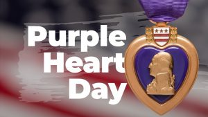 Purple Heart Day August 7 Digital Signage Graphic