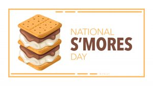 S'mores Day August 10 Digital Signage Graphic