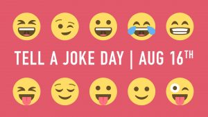 Tell A Joke Day August 16 Digital Signage Graphic