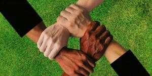 Diversity Teamwork Unity Hands Free Digital Signage Video