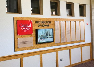 Central College Donor Recognition Wall Digital Donor Wall Touchscreen Interactive Donor Wall DW Page