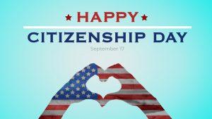 Citizenship Day September 17 Digital Signage Graphic