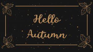 Hello Autumn Digital Signage Graphic