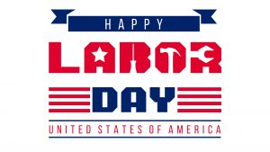 Happy Labor Day USA September 6 Digital Signage Graphic