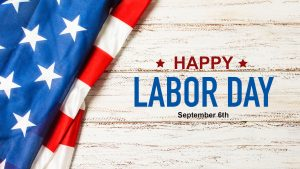 Happy Labor Day September 6 Digital Signage Graphic