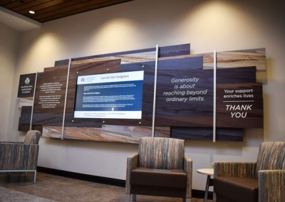 Marshfield Healthcare Digital Donor Wall Dimensional Printing Donor Recognition Donor Wall Donors Digital Signage Chrome Digital Signage Presentations Inc CrossOver Touchscreen DW Page