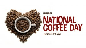 National Coffee Day September 29 Digital Signage Graphic