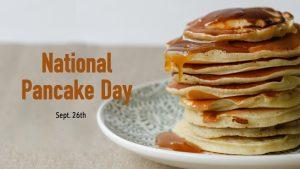 National Pancake Day September 26 Digital Signage Graphic