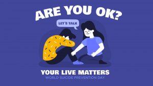 World Suicide Prevention Day September 10 Arreya Digital Signage Graphic