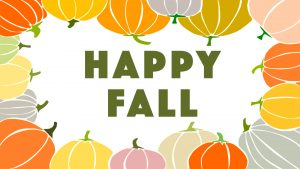 Happy Fall Background Digital Signage Graphic