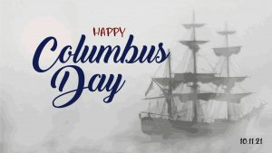 Happy Columbus Day October 11 Digital Signage Graphic