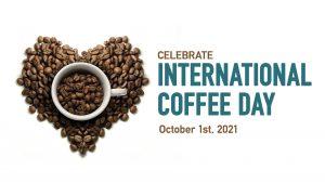 International Coffee Day October 1 Digital Signage Graphic