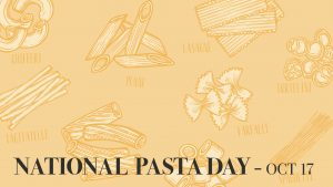 National Pasta Day October 17 Digital Signage Graphic