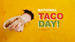 National Taco Day October 4 Digital Signage Graphic