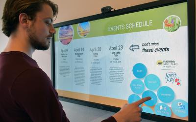 Language Translation for Interactive Digital Displays