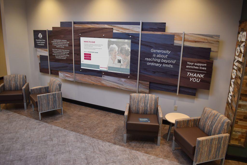 hospital digital donor wall